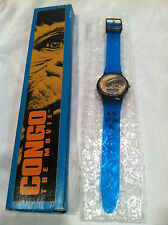 CONGO THE MOVIE WATCH BLUE BOX NEW VINTAGE 1995 Paramont Pictures NEEDS BATTERY-