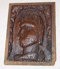 Early 16th Century Henry VIII Carved Oak Portrait Panel