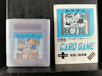Card Game - with manual - Game Boy - 1990 - Japan Import