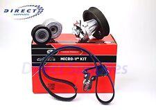 Vauxhall 1.3 CDTi+16V KP26PK1183 GATES Water Pump+ V-Ribbed Belt Kit Micro-V Kit