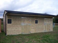 Double stable block, Stables, Horses, field shelter 10 x 20 VA011
