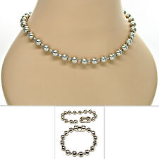 9.5mm Ball Bead Chain Bracelet _ Necklace 8 10 12 16 18 20 22 24 26 28 30 inches