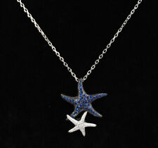 STARFISH SAPPHIRE .925 SOLID STERLING SILVER NECKLACE #57844