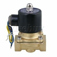 """DC 12V 3/4"""" Normally Closed Electric Solenoid Valve Gas Water Fuels Air Black"""