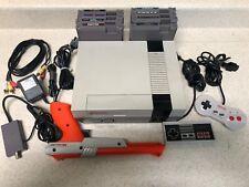 Original Nintendo Entertainment System NES001 Console Bundle w/ 8 Games