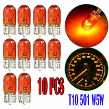 10Pcs W5W T10 501 194 Side Marker Light Amber Glass Bulb Car Halogen Bulbs 12V