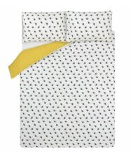 White Bee Duvet Cover Set - kING White Yellow Bedding Set