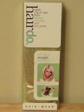 """HairDo Salon Clip-In Hair Extensions 10"""" Straight GINGER BLONDE"""