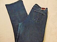 Baby Phat Women 32 x 32 Jeans  (Tag Size 18) Medium Wash Straight Leg  Pre-Owned