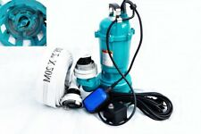 Fäkalienpumpe Tauchpumpe Schmutzwasserpumpe 550W mit Schwimme+ 20m C-Schlauch