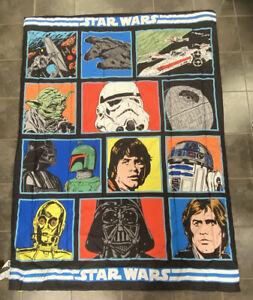 Star Wars Classic Twin Comforter Reversible Darth Vader Yoda Skywalker