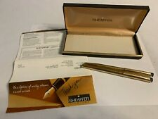 Sheaffer Gold Electroplated Fountain Pen and Ball Point Pen Set 90978 USA Made!