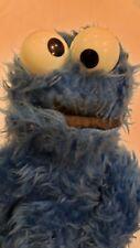 "Vintage 1975 Knickerbocker Sesame Street Plush Cookie Monster Rattle Eyes 14"""