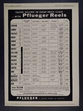 1954 Pflueger Fishing Reels models specs prices hardware trade vintage print Ad