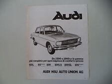 advertising Pubblicità 1972 AUDI 60 L