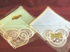 Vintage Hankies.still in original packaging! Baby Blue and Mint colors!