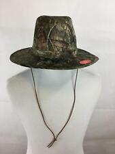 Mossy Oak Hat S/M Safari Paramount Outdoors NWT Camo Leather Strap Elastic New