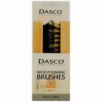 DASCO SHOE POLISH BRUSHES TWIN PACK