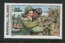 Marshall Islands 1995 World War 2 WW II Scott 510 Elbe River Troops W92 NH