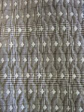 QUILTED FABRIC JAQUARD DIAMOND CHECK Upholstery Material Clothing Dress Soft