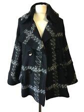 GERRY WEBER Womens EU 44 UK 16 L Black Swinger Jacket Coatigan Peacoat Work
