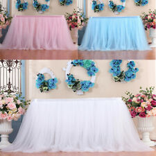 Tutu Tulle Table Skirt Tableware Table Cloth Cover Home Wedding Party Decor JC