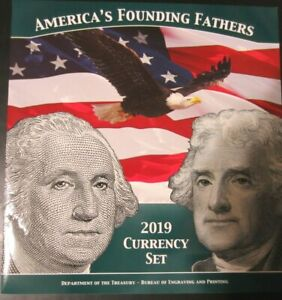 2019 America's Founding Fathers Currency Set, BEP, only 5000 sets produced
