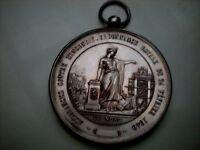 Médaille PORTABLE ORDONANCE ROYAL1840  Assurances contre incendie,ARGENT,diam5cm