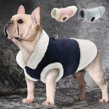 Warm Fleece Dog Cat Coat Small Medium Jacket Dogs Clothes Soft Walk Vest Harness