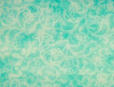 Red Rooster TURQUOISE LACE (Bohemian Rose) 100% Cotton Premium Fabric-per 1/2 yd