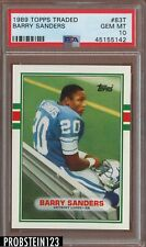 1989 Topps Traded #83T Barry Sanders RC Rookie PSA 10 HOF Lions