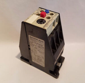 Siemens-Allis OLR0630 0LR0630 Overload Relay 4-6.3 Amp