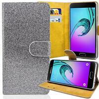Glitzer Book Style Handy Tasche Schutz Hülle Flip Case Klapp Etui Cover Schale