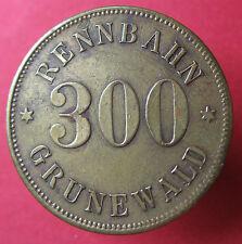 Old Rare Deutsche token - Rennbahn Grunewald 300 pf.- 12365.5 - mehr am ebay.pl