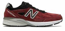 New Balance Masculino 990V4 Made In Us Sapatos Vermelho Com Preto