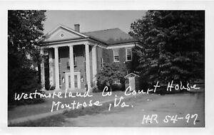 H75/ Montrose Westmoreland Virginia RPPC Postcard c50s County Court House 214