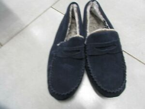 MENS REAL SUEDE MOCCASINS  SIZE 8