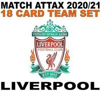 Match Attax Champions League 2020/21 LIVERPOOL 18 card team set