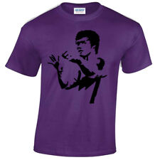 BRUCE LEE MENS T-SHIRT MARTIAL ARTS MMA TRAINING TOP COOL KUNG-FU