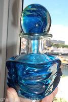 VINTAGE  MDINA  TRAILED   ART GLASS  PERFUME DECANTER  VASE