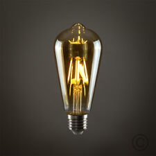 Vintage Industrial Filament LED Light Bulb Lamps Bulbs Squirrel Cage Edison a 4w ES E27 Amber PEAR 5