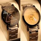 Luxury Fashion Men Women Watch Compass Stainless Steel Quartz Analog Wrist Watch