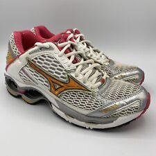 Mizuno Wave Creation 9 Women's Running Shoes White Pink Orange Size 8