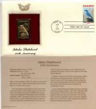 Idaho Statehood Golden Stamp 1990 US First Day FDC 2439 Free Shipping