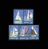 Guernsey, Sc #459-63, MNH, 1991, Sailing Boats, Yacht Club, AR5RTI-B