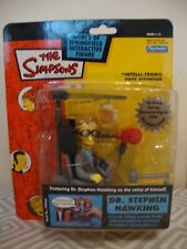 The Simpsons DR. Stephen Hawking interactive action figure 2003 Rare.