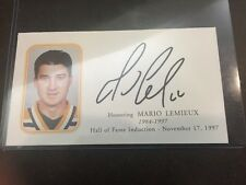 Mario Lemieux Signed  PSA DNA  Hall Of Fame 1997 Induction Envelope