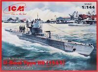 ICM S010 U-Boat Type IIB 1943 German submarine, 1/144 scale plastic model kit
