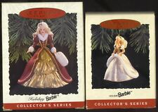 Hallmark 1994 & 1996 HOLIDAY BARBIE Ornaments FREE Ship Excellent in Boxes
