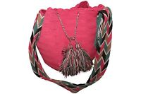 AUTHENTIC COLOMBIA MOCHILA 100 % WAYUU FINEST QUALITY / HANDMADE CROSS BODY BAG